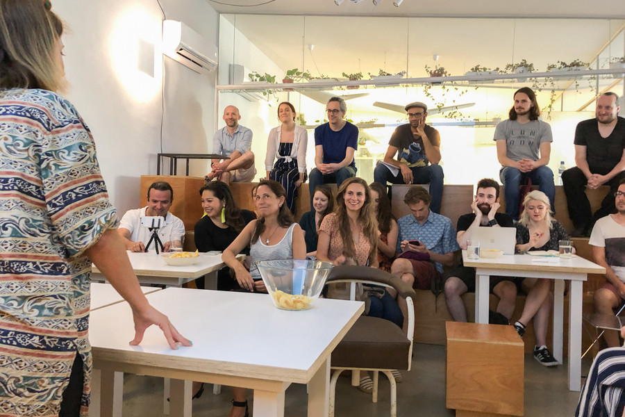 Our cowork kitchen at Principe Real is perfect for meetups such as this one for Lisbon Digital Nomads